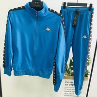 Kappa autumn and winter new men and women casual fitness sportswear two-piece Blue