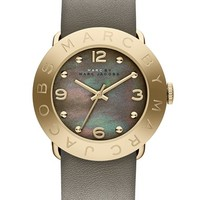 MARC BY MARC JACOBS 'Amy' Leather Strap Watch, 36mm