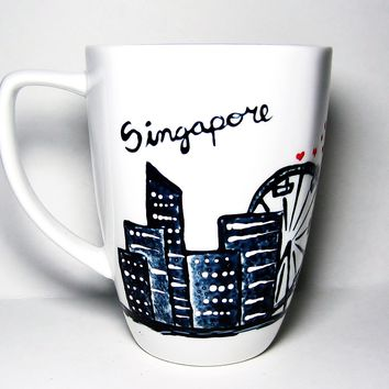 Singapore Coffee Mug - Long Distance Relationship