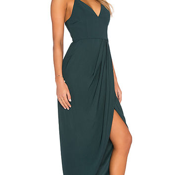 Stellar Drape Maxi Dress in Seaweed