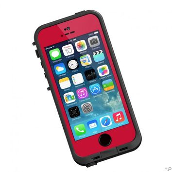 The Red & Black LifeProof FRE Case for the iPhone 5s