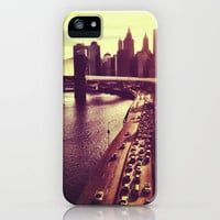 New York City Skyline - Evening Sunset iPhone Case by Vivienne Gucwa | Society6