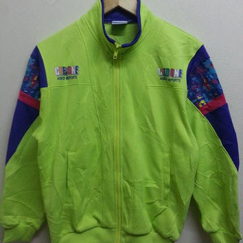 Sale Vintage 1980s Asics Deporte Ceedone Sweater Warmup Trainee Hip Hop Jacket