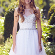 G2064 Jeweled Cap Sleeve Homecoming Cocktail Dress