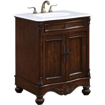 "Windsor 27"" Single Bathroom Vanity Set, Teak"