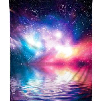 Ripple In Space Water Galaxy Tapestry