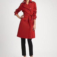 Dolce & Gabbana - Double Breasted Trench Coat - Saks.com