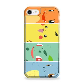 Bulbasaur Squirtle And Charmander Pikachu iPhone 6 | iPhone 6S Case