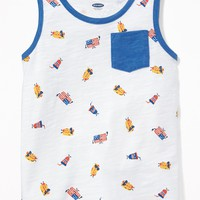Americana Hot Dog Print Tank for Toddler Boys|old-navy