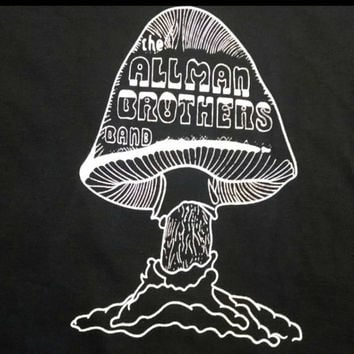 ALLMAN BROTHERS BAND - Mushroom Tee - Duane Allman - Greg Allman - Dicky Betts - 70's Psychedelic Rock - Classic Rock T-shirt