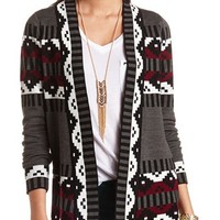 AZTEC PRINT CARDIGAN SWEATER