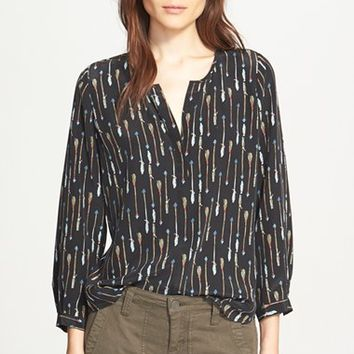 Women's Joie 'Purine' Arrow Print Silk Blouse,