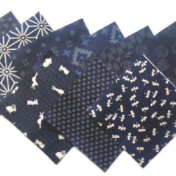 Charm Pack - Japanese Traditional Indigo Fabric - 5 inch squares