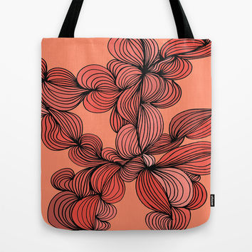 Retro Orange Tote Bag by DuckyB (Brandi)