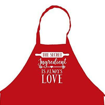 StickerChef The Secret Ingredient is Always Love Chef's Funny Cooking Apron for Men Kitchen, BBQ Grill, Breathable, Machine Washable