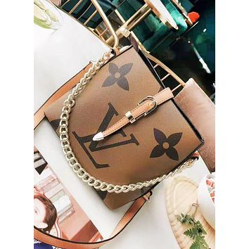 LV Louis Vuitton New fashion monogram leather shoulder bag handbag women