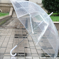 Full Sized Clear Bubble Umbrella