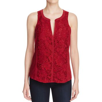 Sanctuary Womens Gwen Shell Lace Overlay Tank Top