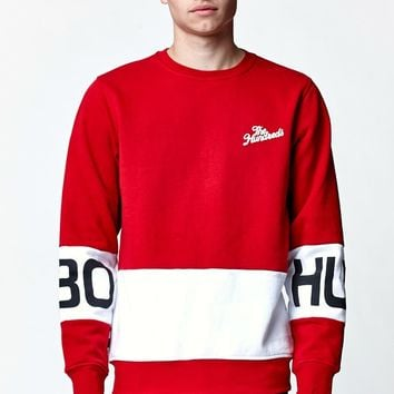 The Hundreds Way Crew Neck Sweatshirt - Mens Hoodie - Red