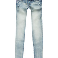 Scissor Released Hem Girls Skinny Jeans Dark Wash  In Sizes