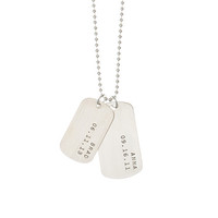Name & Date Dog Tags - Necklace