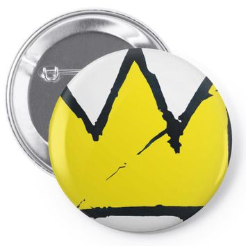 Basquiat crown Pin-back button