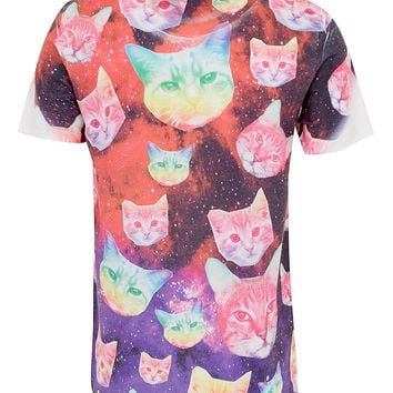 HYPE Cosmo Cat T-Shirt* - Men's T-shirts & Tanks - Clothing - TOPMAN USA