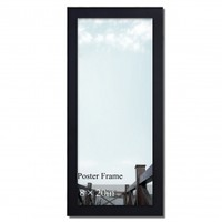 "Adeco Decorative Black Wood 1.25"" Wide Wall Hanging Poster, Picture, Photo Frame, 8x20"""