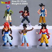 Cartoon Dragon Ball Z PVC Action Figure Goku Son Toys Figures Dolls 6Pcs/set 12CM Free Shipping