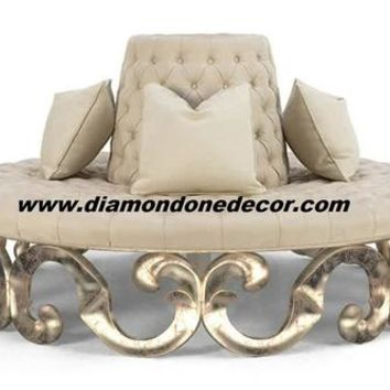 Glamorous Round Tufted Baroque French Reproduction Louis XIV Sofa | Diamond One Decor