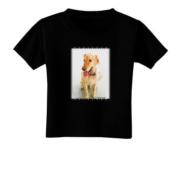 Golden Retriever Watercolor Toddler T-Shirt Dark