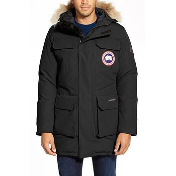Men's Canada Goose 'Citadel' Slim Fit Parka with Genuine Coyote Fur,