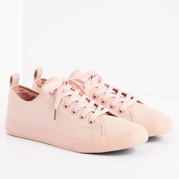 Pink Vegan Leather Low Top Sneaker by EpicStep | Low Top Sneakers | rue21