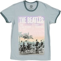 Beatles Men's  Day Tripper T-shirt Blue