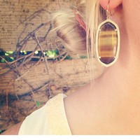 Elle Earrings in Tiger's Eye - Kendra Scott Jewelry
