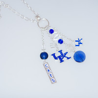 Kentucky Wildcats Multi-Charm Long Necklace