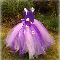 Girls tutu dress, flower girl dress, special occasion dress, girls tutu, purple lavender dress,