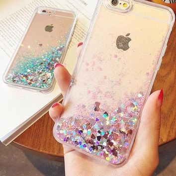 Liquid Glitter Sand Mobile iPhone Cases