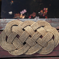 Rope Nautical Doormat - Rope Rug - gift for wedding - nautical decor