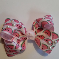Watermelon Pearl Bow