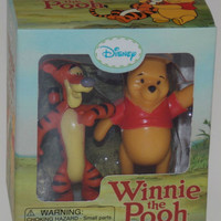 Lot of 2 Winnie The Pooh Tigger Figurines Mega Mini Kit Disney Book