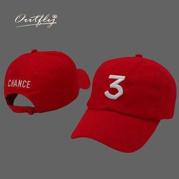 red Drake cap chance the rapper hat youth Baseball Cap Hip Hop hat Snapback Flat Adjus