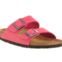 Birkenstock Arizona Two Strap Pink Nubuck - Sandals