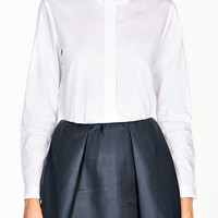 Button Down Heart Collar Poplin Shirt by Carven