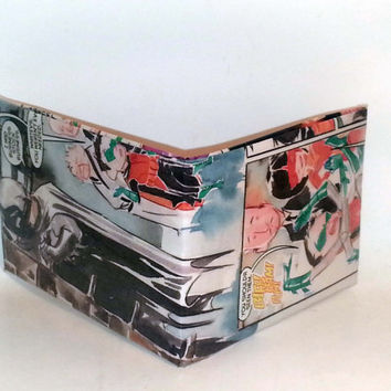Comic Book Wallet// Batman, Robin (Damian Wayne), Alfred, and Katana