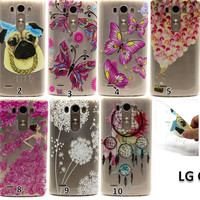 For LG G3 D850 Covers New Fashion Relief Printing Elephant Dog Butterfly Owl Flower Soft TPU Back Cover Phone Case Free Shipping