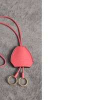 Equestrian Shield Leather Key Charm in Peony Pink - Women | Burberry United States