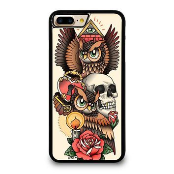 OWL STEAMPUNK ILLUMINATI TATTOO iPhone 7 Plus Case Cover