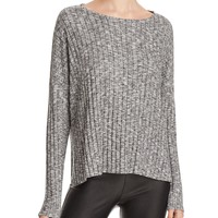 Michelle by ComuneRibbed Marled Knit Top