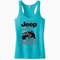 This Jeep Wife Rocks Racerback Tank Top